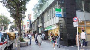 1階がファミリーマートのビルがギークスジョブになります。渋谷駅からは徒歩5分程度でアクセス良好です